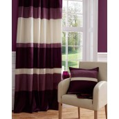 Plum Taffeta Tab Top Curtain Panel