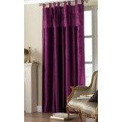 Purple Tab Top Embroidered Curtain panel
