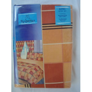Orange Printed Duvet Cover Set King Size €13.95 only