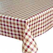 Red Check Oilcloth Tablecloth Round & Rectangular
