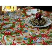 Red Christmas Oilcloth Tablecloth 140x200cm at only €10