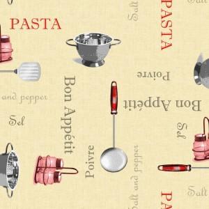 """Pasta"" Oilcloth Tablecloth Round & Rectangular"