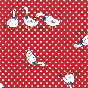 Red Polka Dot Oilcloth Tablecloth Rectangular