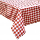 Red Check Oilcloth Tablecloth Rectangular