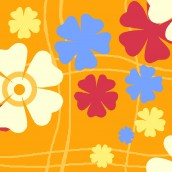 Orange Floral Oilcloth Tablecloth Rectangular 140x240cm only €10