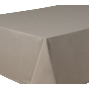 Taupe Round & Rectangulare Fabric Tablecloths