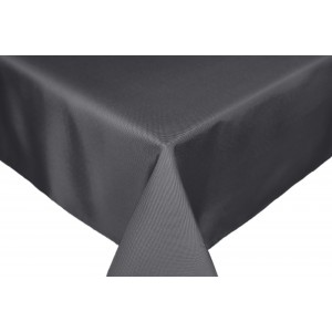 Grey dark Round & Rectangulare Fabric Tablecloths