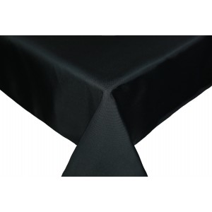 Black Round & Rectangulare Fabric Tablecloths