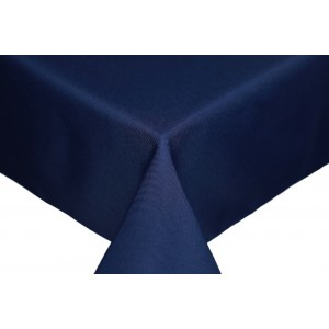 Navy Round & Rectangulare Fabric Tablecloths