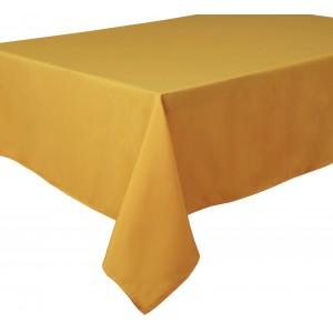 Mustard Yellow Shafran Round & Rectangulare Fabric Tablecloths