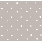 Beige Grey Stars Oilcloths PVC Tablecloths