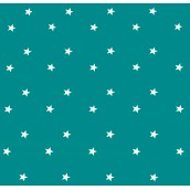 Teal Stars Oilcloths PVC Tablecloths
