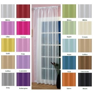 Slot Top Voile Panels in the range of colours