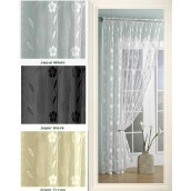 Embroidered Voile Curtain Panel