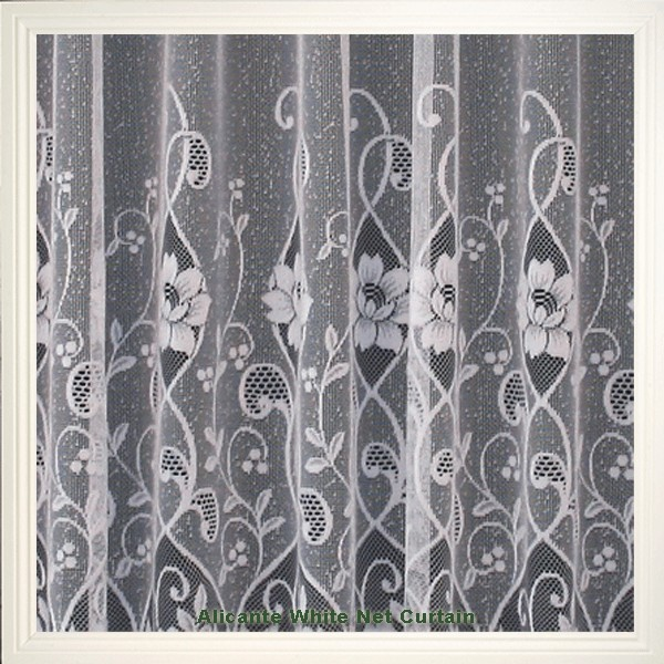 White Floral Net Curtain From Only 1 99 Per Meter Hd