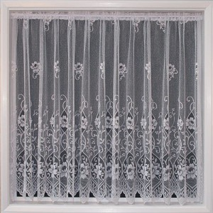 White Floral Net curtain from only €1.99 per meter